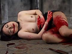 【エロ動画】腹切り1のエロ画像