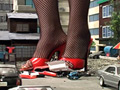 GIANTESS IN RED