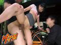 自転車通勤するタイトスカートOLを野外軟禁! 2