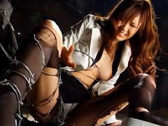 【エロ動画】女捜査官アクションバトル 捜査官姫緒鳴子のエロ画像