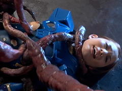 【エロ動画】スーパーヒロインVSクリーチャー 後編 宇宙戦士エミリオのエロ画像