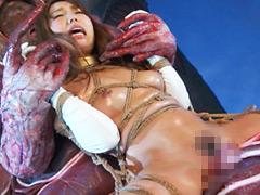 【エロ動画】ヒロインくねくね緊縛 もーれつ仮面 レッド&ホワイトのエロ画像