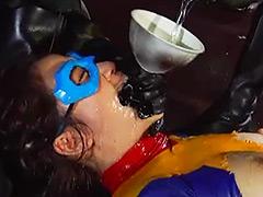 【エロ動画】ヒロイン水責め メタルウーマン編のエロ画像