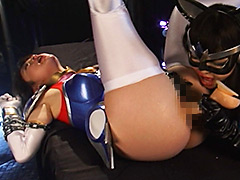 【エロ動画】新サイバー戦隊ジャスティオン ブルースワンのエロ画像