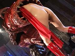 【エロ動画】セクシー仮面生贄丸呑みのエロ画像