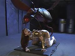 【エロ動画】降魔剣の化身カタナ 巨大昆虫凌辱のエロ画像