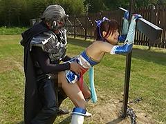 【エロ動画】スーパーヒロイン野外凌辱 〜美少女戦士チアナイツ〜のエロ画像