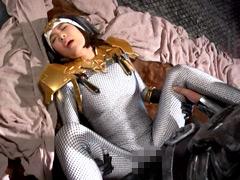 【エロ動画】網タイツon白タイツシルエット 忍シスター聖シャドウのエロ画像