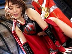 【エロ動画】悪の女戦士アクセルガールバイオレント ヒーロー凌辱のエロ画像
