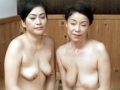 中出しソープ 麗しの熟女湯屋 青井マリ 芦田由佳