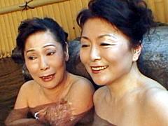 【エロ動画】熟女レズ 還暦祝ふたり旅のエロ画像