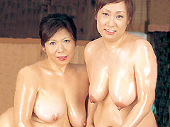 【エロ動画】中出しソープ 麗しの熟女湯屋 若槻まどか 三木藤乃の人妻・熟女エロ画像