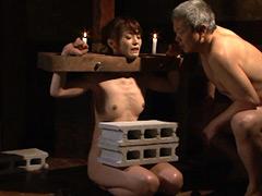 【エロ動画】『義父に捧げられた身代わり奴隷』 拷問義娘 樹花凜のSM凌辱エロ画像