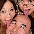 キモ男と女子大生のベロベロちゅうちゅう