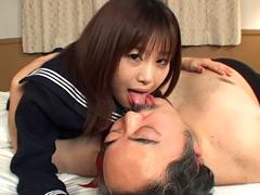 フェチ:キモ男と女子校生のベロベロちゅうちゅう2
