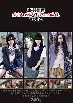 「裏・芸能界 流出!B級アイドルSEX映像 vol.2」のパッケージ画像