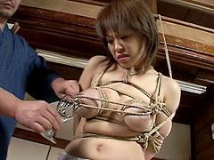 【エロ動画】母乳 緊縛編01のエロ画像