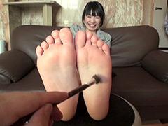 足裏:ロリ美少女足裏くすぐりフェチ撮影 希美ゆう