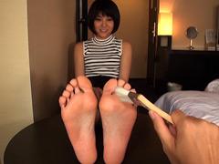 みおり舞:パンスト&足裏解剖実験室