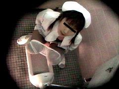 大手大学病院 女子トイレ盗撮オナニー2のジャケット