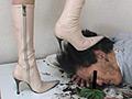ダメ上司復讐の為愛ブーツで汚い顔を...