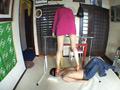 美脚コンパニオンの練習台に使われた変態マネージャー