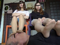 足癖の悪い女二人の調教