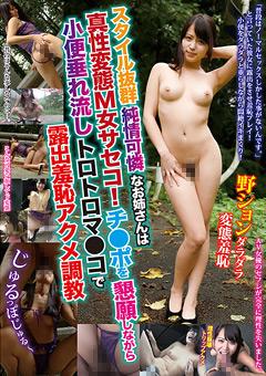 アイドルのような美少女が露出羞恥プレイでフェラしながら放尿し野外SEXまでしているエロ動画