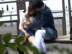 [露出動画]東京野外露出デート最高-画像1