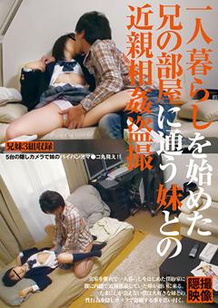 「一人暮らしを始めた兄の部屋に通う妹との近親相姦盗撮」のパッケージ画像