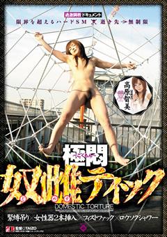 極悶~ごくもん~ 奴雌ティック緊縛吊り 女性器2本挿入 フィストファック ロウソクシャワー