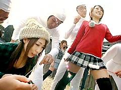 【エロ動画】本当はスケベなダルマさんが転んだっ!のエロ画像