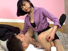 伊織涼子|爆乳女社長 若手社員に嫌という程パワハラ性感DX
