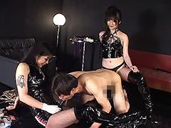 【大島優子】激似AV女優:Boots女王様 ペニバンアナル拡張でイカされるM男DX