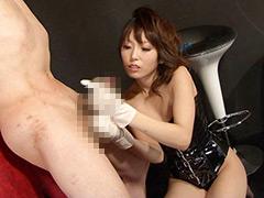 有村千佳がM男のチ○ポを淫語挑発!