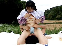 【エロ動画】熟女青姦劇場 花いちモンペ 四の人妻・熟女エロ画像