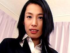 【エロ動画】セレブ奥様待ち伏せ強制中出し 石田えりこの人妻・熟女エロ画像