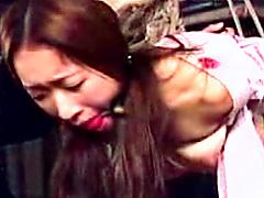 【エロ動画】和少女 顔面拷問のエロ画像