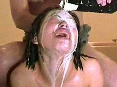 【エロ動画】Mの極 水責め、針刺し編のエロ画像