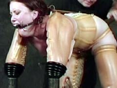 【エロ動画】ラバー・窒息 高圧電流 顔面拷問のSM凌辱エロ画像