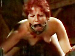 【エロ動画】鉄格子調教 大火傷 顔面拷問のSM凌辱エロ画像