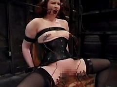 【エロ動画】帯電女2のSM凌辱エロ画像