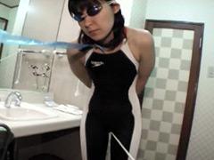 水着:スパッツ競泳水着 ワレメファック強制特訓!