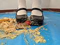 みねおちゃんのフードクラッシュ おでこ靴/白靴下