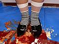 みわちゃんのフードクラッシュ 黒ローヒールパンプス