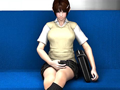 リビドーラボの3DCG女子学生パンチラ盗撮動画総集編1