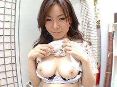 【エロ動画】人妻露出投稿のエロ画像