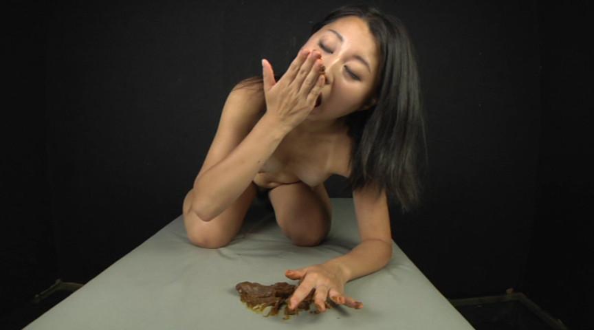 喉も膣も糞まみれ 脱糞食糞オナニー