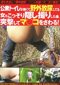 公衆トイレが無くて野外放尿してる女をこっそり隠し撮りした後、突撃してマ○コをさわる!