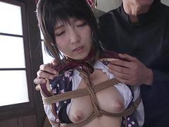 【エロ動画】緊縛コスプレ 佐倉絆のエロ画像